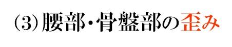 (3)腰部・骨盤部の歪み